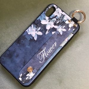 Flower Silicone IPhone Case with Strap XS Max